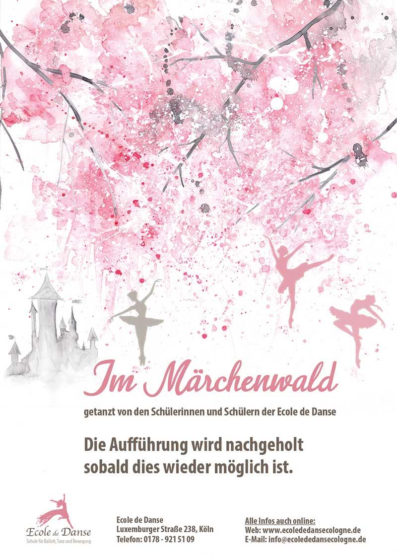 """Die Aufführung """"Im Märchenwald"""" wird nachgeholt, sobald dies wieder möglich ist."""