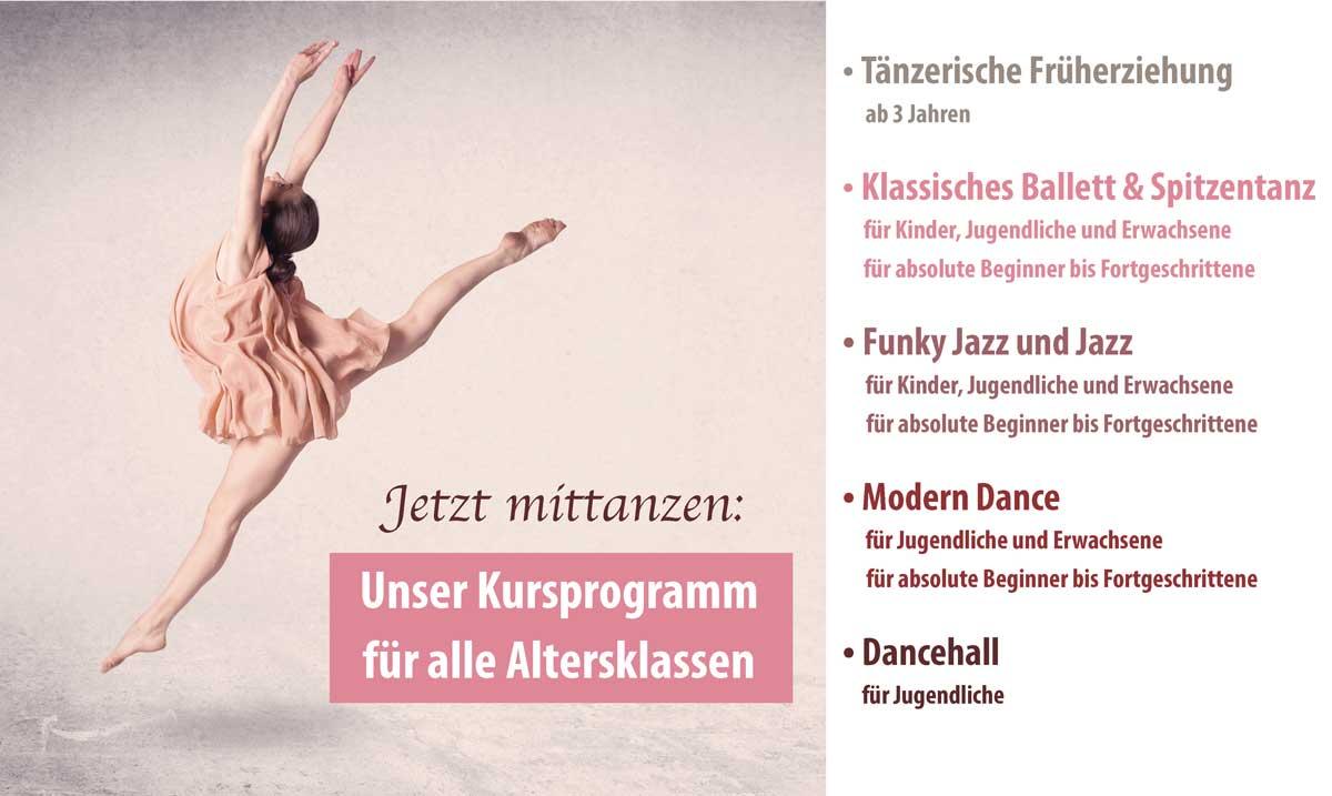 Tanzkurs-Programm